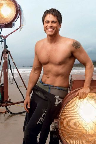 rob lowe older - shirtless - wet suit