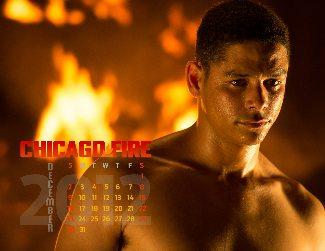 Charlie Barnett shirtless - chicago fire calendar