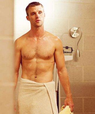 Jesse Spencer shirtless - body hair