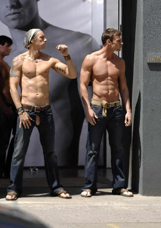 dax shepard shirtless in jeans