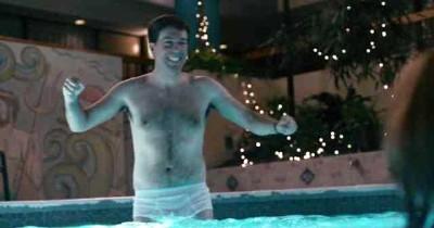 ed helms white briefs in cedar rapids swimming pool