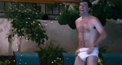 ed helms shirtless white briefs in cedar rapids