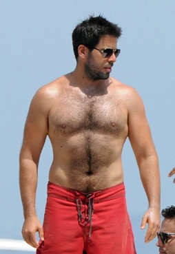eli roth hairy chest and abs