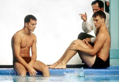 jesse spencer and Tim Draxl in swimming upstream