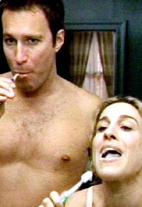john corbett - aidan shaw - shirtless on sex and the city