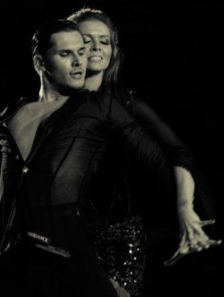 Gleb Savchenko and Elena Samodanova in cabaret-ncdc