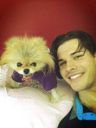 Gleb Savchenko - handsome aussie - with dog