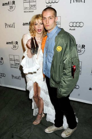 Jack Donoghue with girlfriend courtney love at ammfar inspiration gala ny