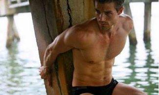 Josiah Hawley shirtless in speedo photo