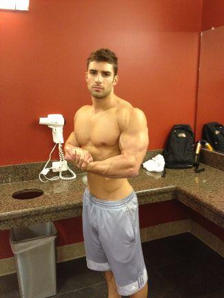 adam ayash shirtless muscle