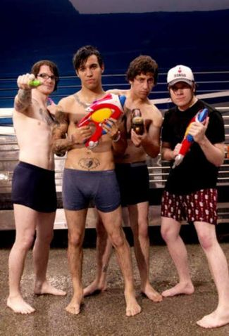 fall out boy underwear - andy hurley pete wentz joe trohman and patrick stump