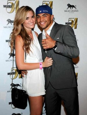 victor ortiz girlfriend - Alexia Garland - 2011
