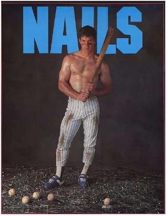 Lenny Dykstra shirtless baseballer - center fielder - phillies