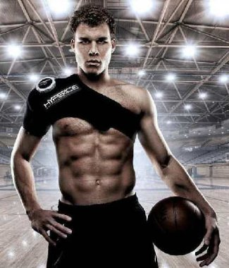 blake griffin for hyperice - six pack washboard abs