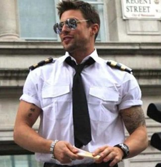 duncan james - airline pilot uniform