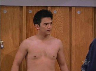 john cho shirtless in off center
