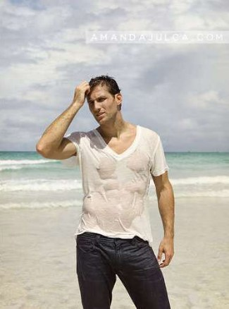 juan pablo galavis gay v neck wet shirt - via ajulca