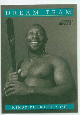 kirby puckett - shirtless baseballer - vintage - minnesota twins mlb