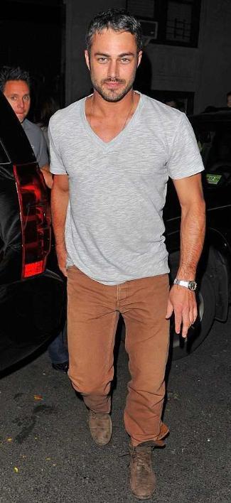 taylor kinney gay - vneck shirt