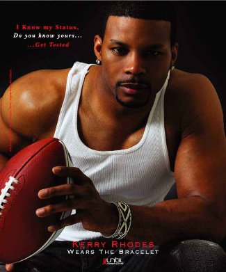 Kerry Rhodes Sexy Hunk Athletic Shirt