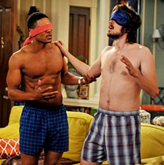 Pooch Hall and Nicholas Wright underwear in accidentally on purpose