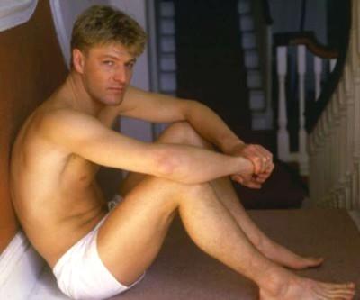 Sean Bean underwear - young then - photoshoot