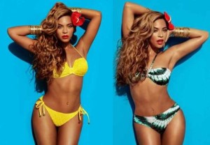 best celebrity bikini - beyonce two-piece for hm