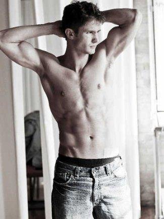 brandon andreen shirtless underwear peekabo - model