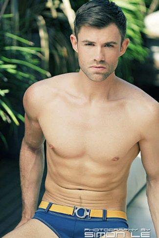 czech male underwear model - Jan Poborak photo by simon le