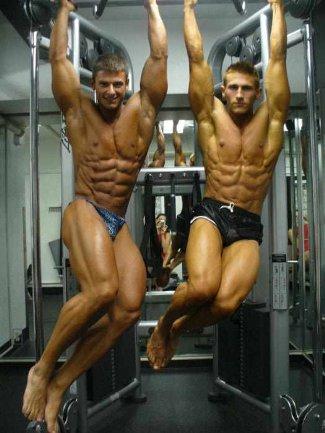 czech male underwear model - Jiri Borkovec left and Petr Prielozny - fitness