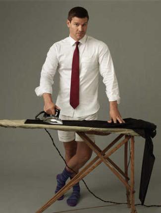 david boreanaz underwear boxer shorts as Seeley Booth