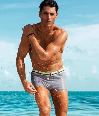 hm beachwear 2013 beachwear model Tyson Ballou