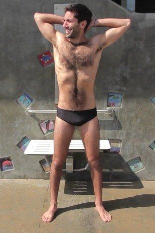 famous american male celebrity wearing speedo nev schulman