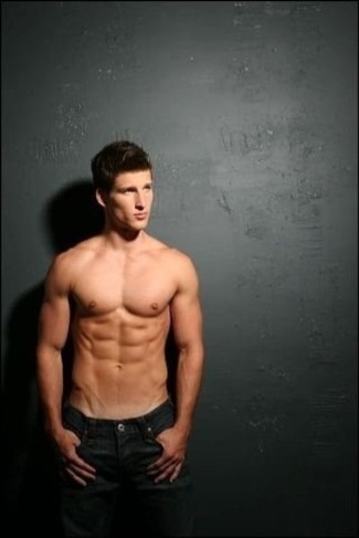 parker young shirtless - washboard abs