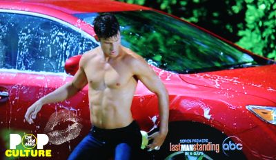 parker young car wash - shirtless
