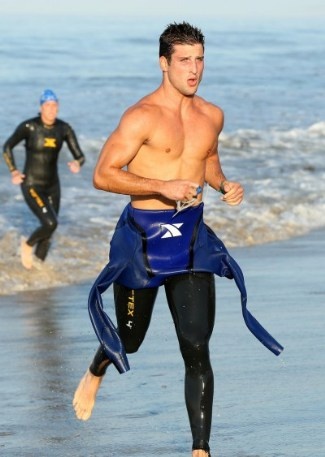 parker young wet suit- 26th Annual Nautica Malibu Triathlon 2012