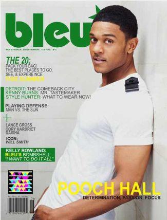 pooch hall bleu magazine coverboy