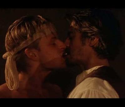 sean bean gay kiss with Spencer Leigh in caravaggio