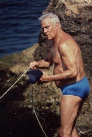 older men wearing speedos Tony Curtis