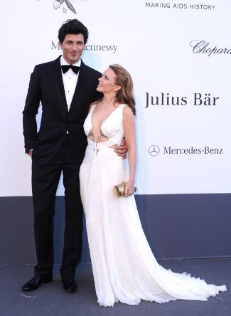 Andres Velencoso wearing Roberto Cavalli - kylie minogues bf