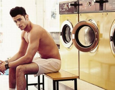 Baptiste Giabiconi by Photographer Ben Harries for evening standard magazine