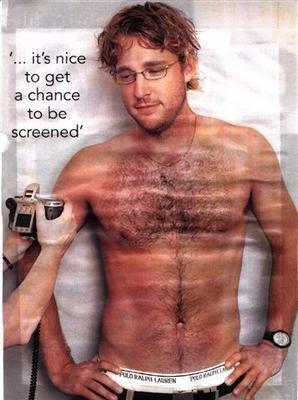 Daniel Vettori - shirtless showing underwear