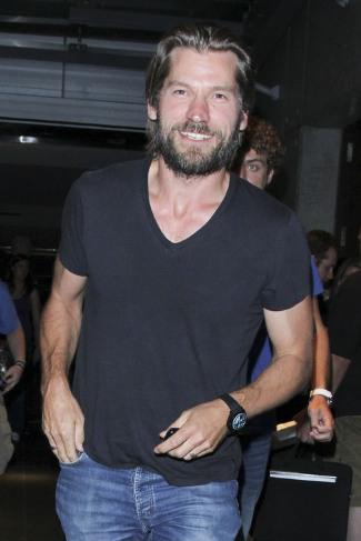 Nikolaj Coster Waldau gay v neck shirt