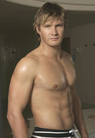 shirtless cricket players Shane Watson Washboard abs