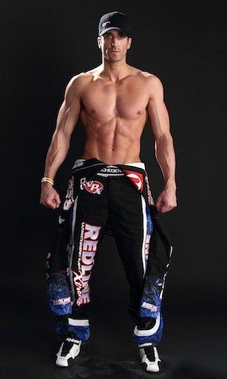 Tomas Scheckter shirtless nascar driver
