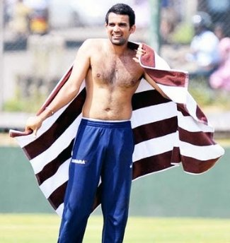 Zahir Khan Shirtless cricket player