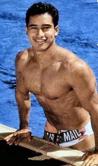 actors in speedo - mario lopez as greg louganis in breaking the surface