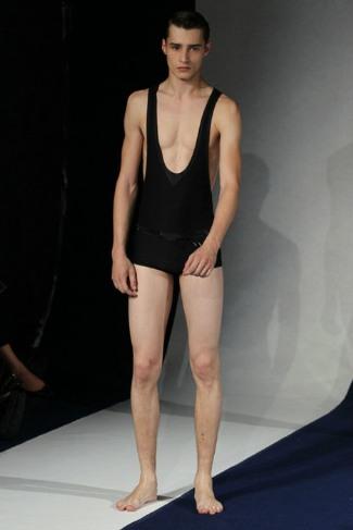 adrien sahores runway underwear model - Alexis Mabille Spring 2012 Paris Fashion Week
