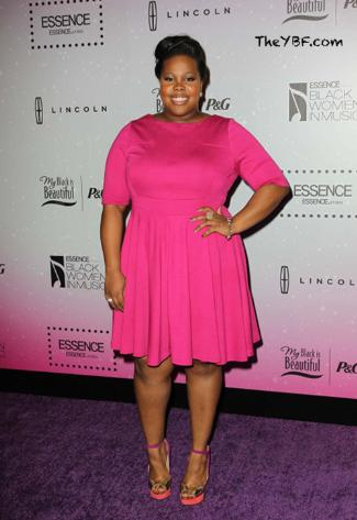 amber riley plus size dress - Dorothy Perkins - 2013 black women in music event