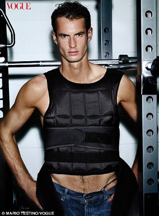 andy murray - male model for vogue magazine